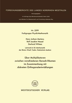 Über Multiplikatoren zwischen verschiedenen Banach-Räumen von Mertens,  Hans-Jochem