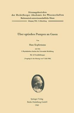 Über optisches Pumpen an Gasen von Kopfermann,  Hans
