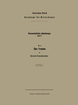 Über Tromben von Koschmieder,  Harald