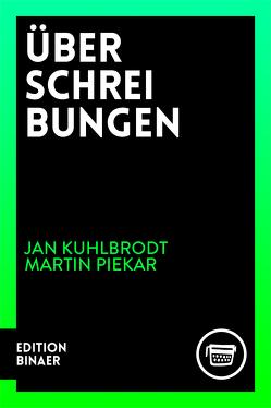 Überschreibungen von Berlin,  Verlagshaus, Diel,  Marcel, Kuhlbrodt,  Jan, Piekar,  Martin