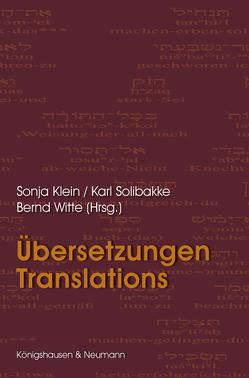 Übersetzungen – Translations von Klein,  Sonja, Solibakke,  Karl, Witte,  Bernd