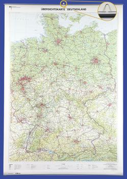 Übersichtskarte Deutschland 1 : 750 000 von BKG - Bundesamt für Kartographie und Geodäsie