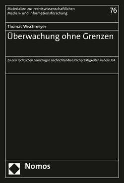 Überwachung ohne Grenzen von Wischmeyer,  Thomas