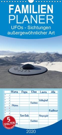 UFOs – Sichtungen außergewöhnlicher Art – Familienplaner hoch (Wandkalender 2020 , 21 cm x 45 cm, hoch) von Schilling,  Linda