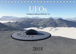 UFOs – Sichtungen außergewöhnlicher Art (Tischkalender 2018 DIN A5 quer) von Wlotzka und Linda Schilling,  Michael