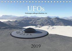 UFOs – Sichtungen außergewöhnlicher Art (Tischkalender 2019 DIN A5 quer) von Wlotzka und Linda Schilling,  Michael