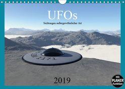 UFOs – Sichtungen außergewöhnlicher Art (Wandkalender 2019 DIN A4 quer) von Schilling,  Linda