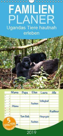 Ugandas Tiere hautnah erleben – Familienplaner hoch (Wandkalender 2019 , 21 cm x 45 cm, hoch) von Krause,  Johanna