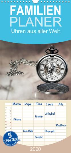 Uhren aus aller Welt – Familienplaner hoch (Wandkalender 2020 , 21 cm x 45 cm, hoch) von Rosin,  Dirk