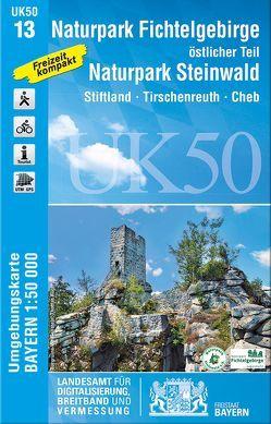 UK50-13 Naturpark Fichtelgebirge, östlicher Teil, Naturpark Steinwald von Landesamt für Digitalisierung,  Breitband und Vermessung,  Bayern