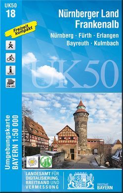 UK50-18 Nürnberger Land, Frankenalb von Landesamt für Digitalisierung,  Breitband und Vermessung,  Bayern