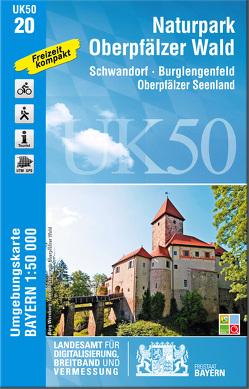 UK50-20 Naturpark Oberpfälzer Wald von Landesamt für Digitalisierung,  Breitband und Vermessung,  Bayern