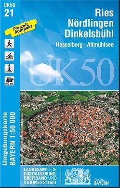 UK50-21 Ries, Nördlingen, Dinkelsbühl von Landesamt für Digitalisierung,  Breitband und Vermessung,  Bayern
