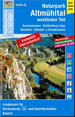UK50-23 Naturpark Altmühltal westlicher Teil von Landesamt für Digitalisierung,  Breitband und Vermessung,  Bayern