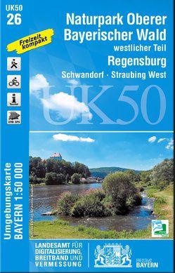 UK50-26 Naturpark Oberer Bayerischer Wald – westlicher Teil von Landesamt für Digitalisierung,  Breitband und Vermessung,  Bayern