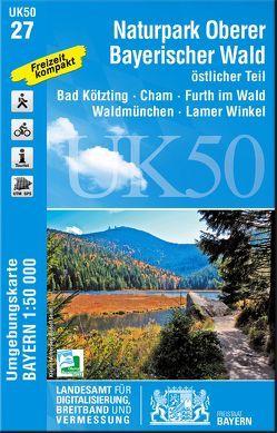 UK50-27 Naturpark Oberer Bayerischer Wald, östlicher Teil von Landesamt für Digitalisierung,  Breitband und Vermessung,  Bayern