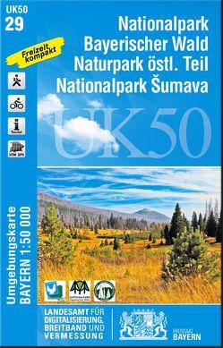 UK50-29 Nationalpark Bayerischer Wald, Naturpark östlicher Teil, Nationalpark Sumava von Landesamt für Digitalisierung,  Breitband und Vermessung,  Bayern