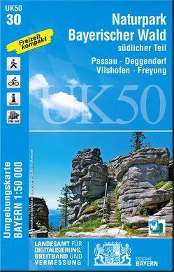 UK50-30 Naturpark Bayerischer Wald, südlicher Teil von Landesamt für Digitalisierung,  Breitband und Vermessung,  Bayern