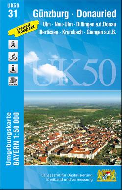 UK50-31 Günzburg-Donauried von Landesamt für Digitalisierung,  Breitband und Vermessung,  Bayern
