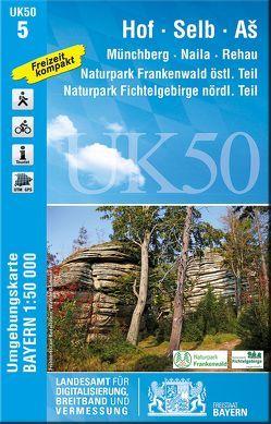 UK50-5 Hof, Selb, As von Landesamt für Digitalisierung,  Breitband und Vermessung,  Bayern