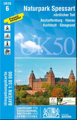 UK50-6 Naturpark Spessart nördlicher Teil von Landesamt für Digitalisierung,  Breitband und Vermessung,  Bayern