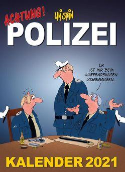 Uli Stein – Achtung! Polizei Kalender 2021: Monatskalender für die Wand von Stein,  Uli