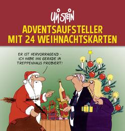 Uli Stein Adventsaufsteller mit 24 Weihnachtskarten von Stein,  Uli
