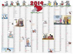 Uli Stein Kalenderkarte 2019 von Stein,  Uli