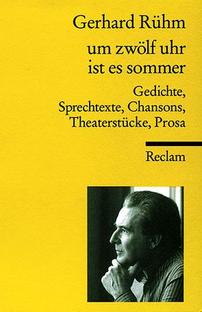 um zwölf uhr ist es sommer von Drews,  Jörg, Rühm,  Gerhard