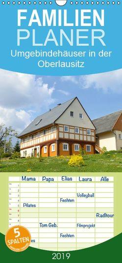 Umgebindehäuser in der Oberlausitz – Familienplaner hoch (Wandkalender 2019 <strong>21 cm x 45 cm</strong> hoch) von Jähne,  Karin