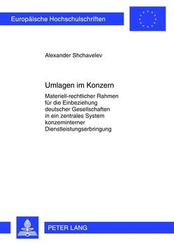 Umlagen im Konzern von Shchavelev,  Alexander