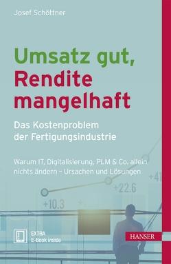 Umsatz gut, Rendite mangelhaft – das Kostenproblem der Fertigungsindustrie von Schöttner,  Josef