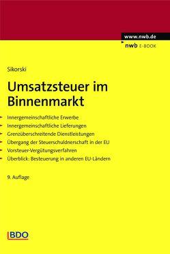 Umsatzsteuer im Binnenmarkt von Pogodda,  Annette, Sikorski,  Ralf