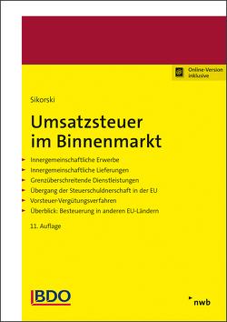 Umsatzsteuer im Binnenmarkt von Pogodda-Grünwald,  Annette, Sikorski,  Ralf