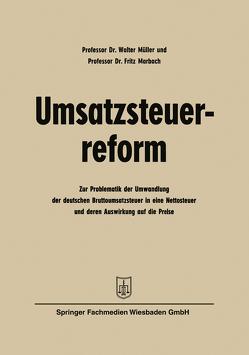 Umsatzsteuerreform von Müller,  Walter