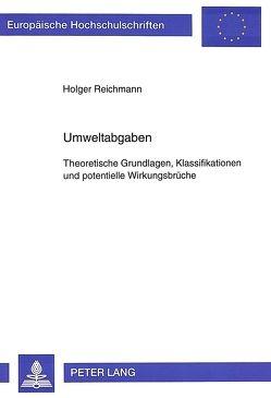 Umweltabgaben von Reichmann,  Holger