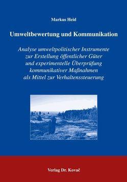 Umweltbewertung und Kommunikation von Heid,  Markus