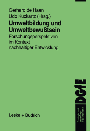 Umweltbildung und Umweltbewußtsein von de Haan,  Gerhard, Kuckartz,  Udo
