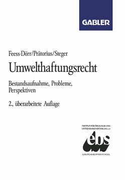 Umwelthaftungsrecht von Feess,  Eberhard