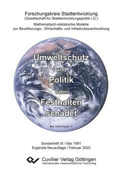 Umweltschutz und Politik oder Festhalten schadet von Marquardt,  Karlheinz