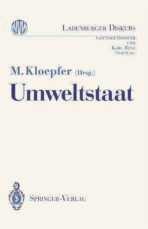 Umweltstaat von Kloepfer,  Michael