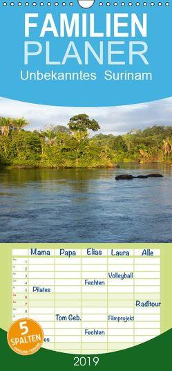 Unbekanntes Suriname – Familienplaner hoch (Wandkalender 2019 , 21 cm x 45 cm, hoch) von und A.-S. Susdorf,  T., weltreise-unlimited.de