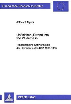 Unfinished 'Errand into the Wilderness' von Myers,  Jeffrey
