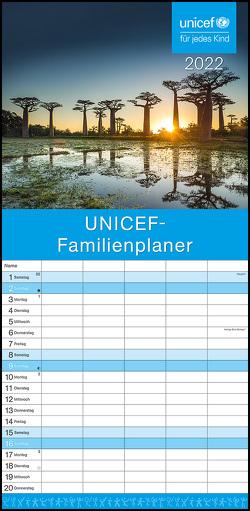 UNICEF 2022 Familienplaner – Familien-Timer – Termin-Planer – Kinder-Kalender – Familien-Kalender – 22×45