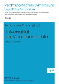 Universalität der Menschenrechte von von Hoffmann,  Bernd