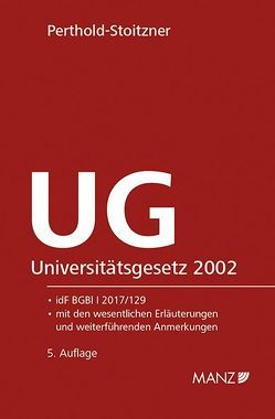 Universitätsgesetz 2002 – UG von Perthold-Stoitzner,  Bettina