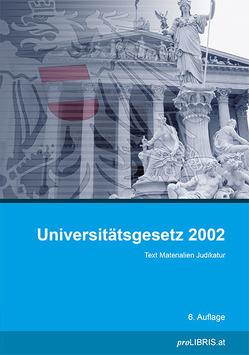 Universitätsgesetz 2002 von proLIBRIS VerlagsgesmbH