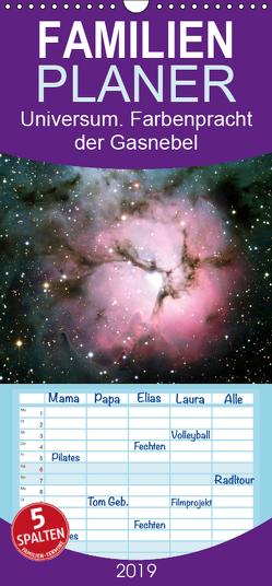 Universum. Farbenpracht der Gasnebel – Familienplaner hoch (Wandkalender 2019 , 21 cm x 45 cm, hoch) von Stanzer,  Elisabeth