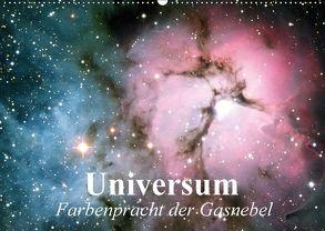Universum. Farbenpracht der Gasnebel (Wandkalender 2018 DIN A2 quer) von Stanzer,  Elisabeth