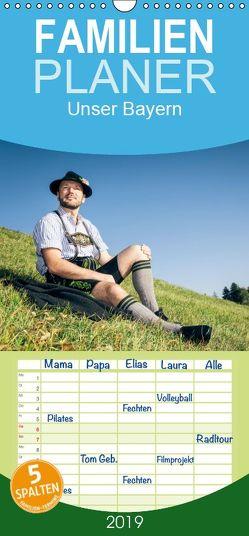 Unser Bayern – Familienplaner hoch (Wandkalender 2019 , 21 cm x 45 cm, hoch) von Gann (magann),  Markus